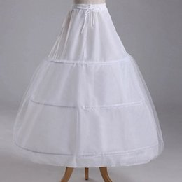 Wholesale Cheapest Knitted Dress - 10pcs Wedding Petticoats 2015 New Hot Sale Cheapest 3 Hoop Wedding Bridal Gown Dress Petticoat Underskirt Crinoline Wedding Accessories