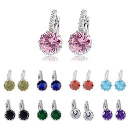Wholesale Crystals For Decorating - Sterling Silver Earrings for Women Gemstone Decorated Temperament Act The Role Ofing Is Tasted Drop Earrings Austrian Crystal Earrings