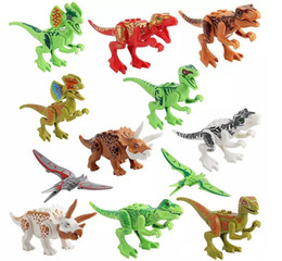 costruire la figura Sconti Dinosaurs of Block Puzzle Bricks Dinosaurs Figures Building Blocks Baby Education Toys for Children Gift Kids Toy