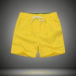 Wholesale Mens White Beach Pants - Wholesale-Summer Swimwear Beach Pants Mens Board Shorts Men Surf Shorts Small Horse Swim Trunks Sport Shorts de bain homme free shipping