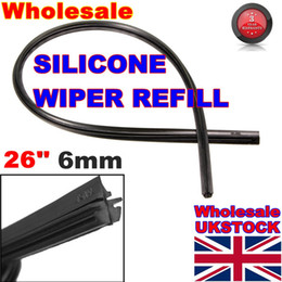 Wholesale Wiper Arm Blades 26 - New 26 6mm Cut to Size Universal Vehicle Replacement Wiper Blade Refill Silicone