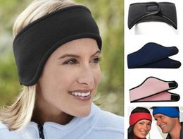 Wholesale Volleyball Accessories - 1 Pc Lot Soft Polar Fleece Ear Warmer Multi-Choice Winter Use Warm Polyester Headband Accessory Men Women Earmuffs