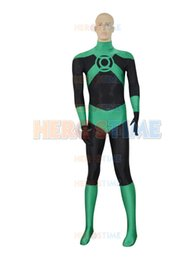 Wholesale Green Lantern Zentai Costume - 2015 Deep Green Lantern corps costume the most popular Custom Lantern Superhero Costume free shipping