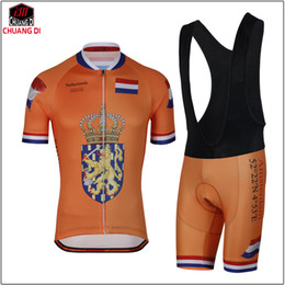 Jersey corto de holanda online-NUEVO jersey de ciclismo naranja holandés Holanda Holanda riding Jersey de manga corta MTB / ROAD ciclismo ropa almohadilla de gel