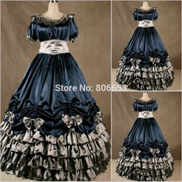 Wholesale Cheap Victorian Dresses Costumes - New Arrival Cheap Christmas victorian Gothic Dress Civil War Southern Belle Gown Belle Cosplay Costume CW020