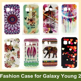 Wholesale Young Wind - Wholesale Retro Tribe Animal Elephant Owl Flower Wind Chime Soft Cover Phone Case for Samsung Galaxy Young 2 G130 10pcs lot Free Shipping