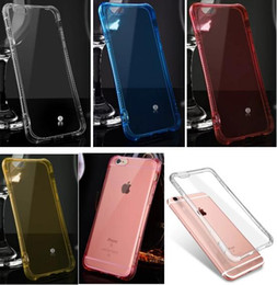 Wholesale Iphone Flash Skin - For Iphone 6 6S Plus 4.7 5.5 Call Lightning Flash LED Light Up Phone Case Silicone Hybrid Soft TPU Silicone Clear Bling incoming Skin Luxury