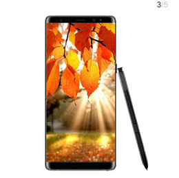 Wholesale Note Inches Single Sim - Goophone note 8 note8 MTK6580 Quad core 6.3 inch 3G WCDMA Android cellphone 1GB 4GB show 64GB fake 4g lte Smart phone
