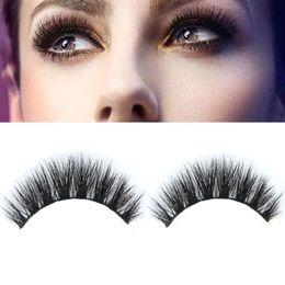 Wholesale Real Eyes - Mink False Eyelashes makeup High Quality 100% Real Mink Natural Thick False Fake Eyelashes Eye Lashes Makeup Extension Beauty Tools