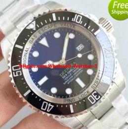 Wholesale Top Waterproof Mechanical Watches - New Super Top Noob Factory V7 Black Dial Mens Automatic Watch Men Rotating Ceramic Bezel Waterproof Dive Sea 116660 Waterproof Watches
