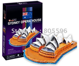 Wholesale Toy Paper Houses - Wholesale-Educational Building toy,3D DIY Models,Home Adornment, Puzzle Toy,Paper model,Papercraft,CYDNEY OPERA HOUSE
