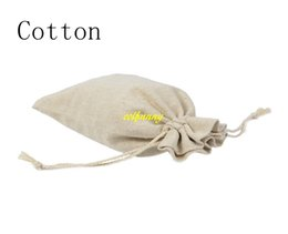 Wholesale Wrapping Paper Storage - 50pcs lot Free Shipping 10*15cm Cotton & Jute burlap Drawstring bags Gift Candy Jewelry package Pouch Storage bag Wedding Decor