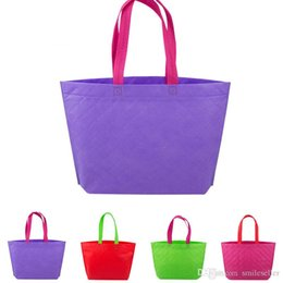 Wholesale Cheapest Gift Shop - Cheap Sales Non Woven Shopping Bag Eco-friendly Resuable Handbag Advertising Gift Bag Candy Color Grocery Bags ZD0044 Bagseller2010