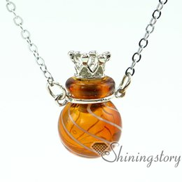 Wholesale Small Ball Necklace Chain - ball aromatherapy inhaler aromatherapy jewelry diffusers aromatherapy jewelry diffusers small glass bottles pendant necklaces scent necklace