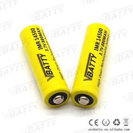 Wholesale Rechargeable Lithium Button Battery - 2016 New Vbatty IMR14500 880mah 12A 3.7v lithium battery with button top(1pc)
