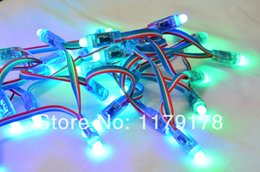 Wholesale Diffused Rgb - Wholesale-Free Shipping 50pcs lot LED RGB Pixel Light DC5V F8 Full Color Waterproof Diffused Digital 12mm LED Pixel String lamp WS2801