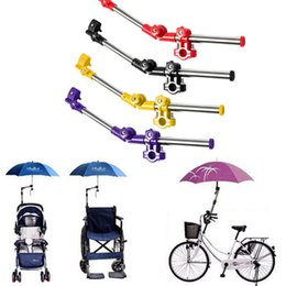 Wholesale Steel Wheelchair - Bike Wheelchair Stroller Chair Umbrella Holder Connector Stand Supporter Stainless Steel Multiused Stands