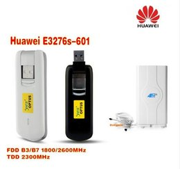 Wholesale Lte Usb Dongle - unlocked stock huawei E3276s-601 Mobily connect 4G lte dongle FDD 1800 2600MHz TDD2300MHz plus 49dbi 4G LTE MIMO antenna