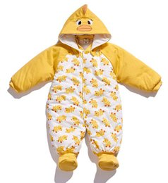 Wholesale Newborn Wadded Jacket Baby - Wholesale-Autumn and winter cotton romper baby clothes male and Female baby bodysuit wadded jacket newborn cotton romper H584