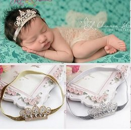 Wholesale Cheap Baby Supplies - Cheap Baby Infant Luxury Shine diamond Crown Headbands girl Wedding Hair bands Children Hair Accessories Christmas boutique party supplies g