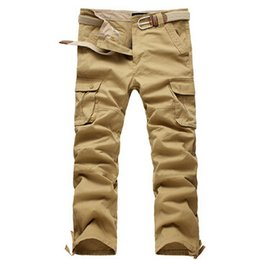 Wholesale Tranning Pants - Wholesale-High Quality Fashion Chinos Tactical Pants Battle Pleated Army Tranning Tupac Pants Long Cargo Pantalones Chandal