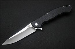 Wholesale Bearing Self - ZT 0454 Tactical Flipper folding knife 9Cr18MoV blade G10 handle Ball bearing hunting camping outdoors Knives tool