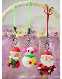 Wholesale Cute Christmas Couples Gifts - Wholesale-Christmas Gift Korea cute couple phone pendant Santa Claus mobile phone chain Christmas Decoration