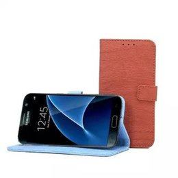 Wholesale Card Case Wood Wholesale - Leather Case For Samsung Galaxy S7 s7 retro wood style magnetic Leather Wallet Flip case with stand Holder Cover card slots