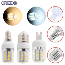 Wholesale 5w B15 Led Bulbs - High Bright Led G9 E27 E14 spot corn lights 5W 400 lumens 27pcs 5050 SMD Led bulbs light with cover