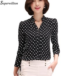 Wholesale Shirt Tribal - Wholesale- Soperwillton New 2017 Tribal Print Women Blouses Chiffon Large Size Shirts Blusa Women's Clothing blouse shirt Vintage Tops D573