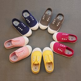 Wholesale Toddler Pink Canvas Shoes - 2017 Children shoes spring autumn Toddler Little boys girls shoes kids Slip-on canvas kids casual shoes