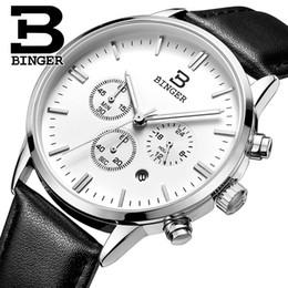 Wholesale Binger Men Watch - 2017 Switzerland relogio masculino BINGER Chronograph Men Watches Sports waterproof Quartz Watch Luxury Brand Watch Men BG9201-4