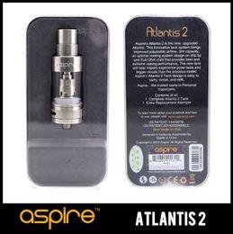 Wholesale Tank System Electronic Cigarettes - Genuine Aspire Atlantis 2.0 Atomizer Tank 3ML Pyrex 0.3oHm Subohm Tank Optimal Cooling System Aspire Atlantis V2 Electronic Cigarettes