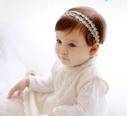 Wholesale Novelty Tiaras - Glitter Crown Girls Headband Baby Fashion Hairband Tiara Princess Novelty New Silver Red Head Hair Accessories