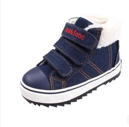 Wholesale Comfortable Warm Winter Boots - New Autumn Winter Warm cotton Boots High Quality Children Snow Boots Boys Boots Comfortable Kids Hot Casual Shoes
