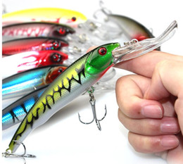 Wholesale minnow crank baits - 30g 16.5cm Minnow fishing lures japan deepswim saltwater hard bait 3D eyes Plastic Crank bait Swimbait sinking wobbler
