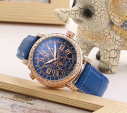 Wholesale Function Date - automatic date luxury fashion Complex function timing series men and women of the steel belt movement quartz clock men watch Folding buckle