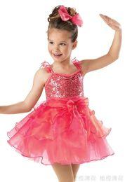 Wholesale Latin Dance Show - kids dancewear professional ballet tutu leotard baller dress for children for women latin dance dress for girl The new stage show costumes