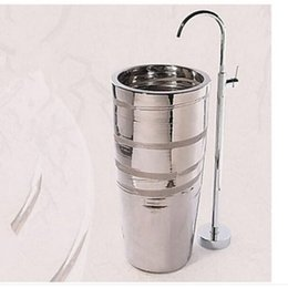 Wholesale Contemporary Style Bathrooms - Wholesale And Retail Chrome Brass Floor Mounted Bathroom Tub Faucet Tub Filler Round Style Mixer Tap