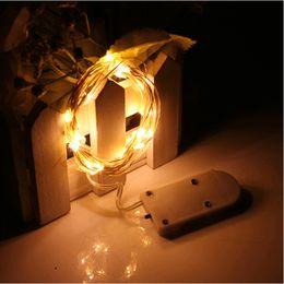 светодиодные кнопки Скидка CR2032 Кнопка Батареи 2 М 20LED Микро Крошечные СВЕТОДИОДНЫЕ Струнные Светильники с Батареей Led Fairy Light Для Рождественская Вечеринка Свадебный Декор