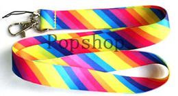 Lances de arco-íris ao atacado on-line-100pcs arco-íris cor Lanyard / MP3 / 4 telefone celular / chaveiros / alça de pescoço colhedor ATACADO