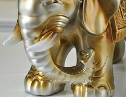 Wholesale Antique Style Furniture - Good price home furniture Elephant shape Shoe stool Saint-Maru-style home resin elephant gift decoration for shoe stool