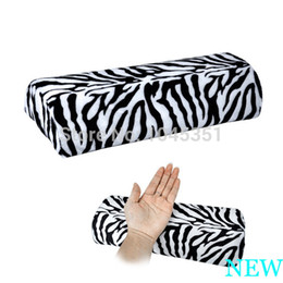 Wholesale Nail Cushion Rest - Professional Hand Cushion Pillow Zebra Stripe Soft Rest for Nail Art Manicure Half Column Free   Drop Shipping