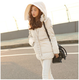 Wholesale quilt coat - Wholesale-winter women jacket medium-long down coat female berber fleece hooded thickening Parkas plus size casual military quilt overcoat