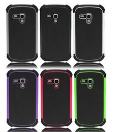 Wholesale S3 Mini Rubber Cases - Hybrid Rugged Rubber Hard Case Cover For Samsung Galaxy S3 III Mini i8190