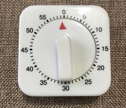 Wholesale White Kitchen Timer - Popular 60 Minutes Kitchen Timer Count Down Alarm Reminder White Square Mechanical Timer for Kitchen