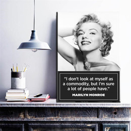 Wholesale Original Oil Paintings Modern - 1 Pcs Original Marilyn Monroe Portrait Canvas Art Oil Painting Modern Home Decor Wall Art Poster Pictures For Kid Room No Frame
