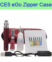 Wholesale Ego Ce5 Dhl - eGo CE5 Colors Zipper ego case electronic cigarette starter single kit CE4 CE5 plus atomizer ego kits DHL Free Shipping