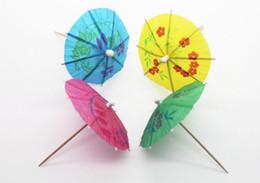 Wholesale Luau Party Umbrellas - 100pcs Paper Cocktail Parasols Umbrellas drinks picks wedding Event & Party Supplies Holidays luau sticks Free Shipping
