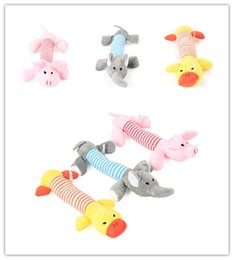 Wholesale Tooth Plush - Pet Dog Chews Toys Cartoon Style Plush Toy Voice Grinding Cleaning Teeth Toys Long Four-legged Animal Pig Elephant Duck CYF88